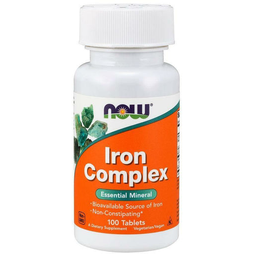 NOW, Iron Complex 100 tabs