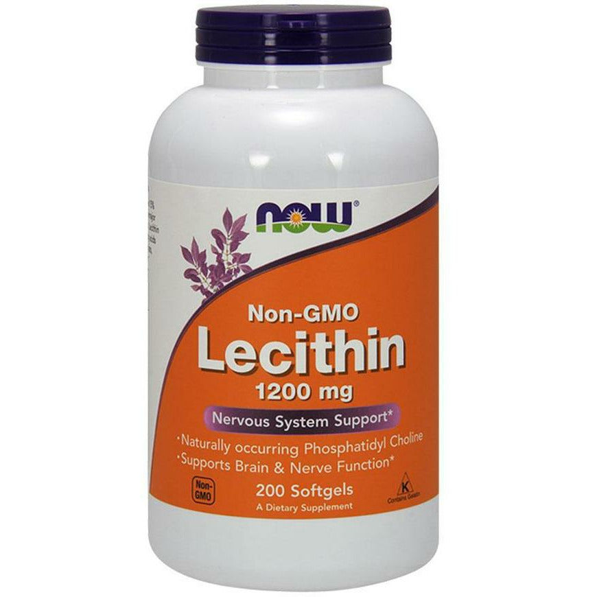 NOW, Lecithin (Non-GMO) 1200 mg 200 softgels