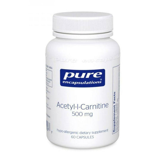 Pure Encapsulations, Acetyl-L-Carnitine 500 mg 60 vcaps
