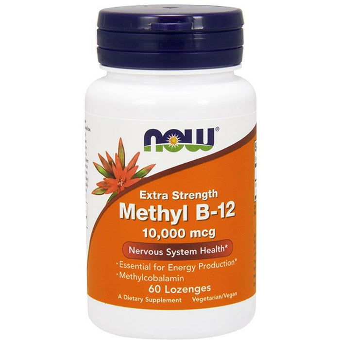 NOW, Methyl B-12 10,000 mcg 60 lozenges
