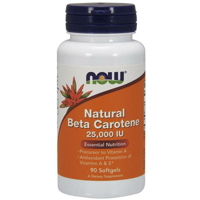 NOW, Natural Beta Carotene 25,000 IU 90 gels