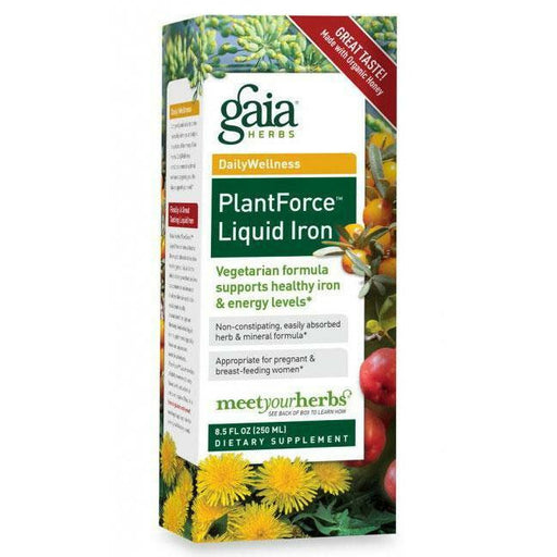 Gaia Herbs, PlantForce Liquid Iron 16 oz