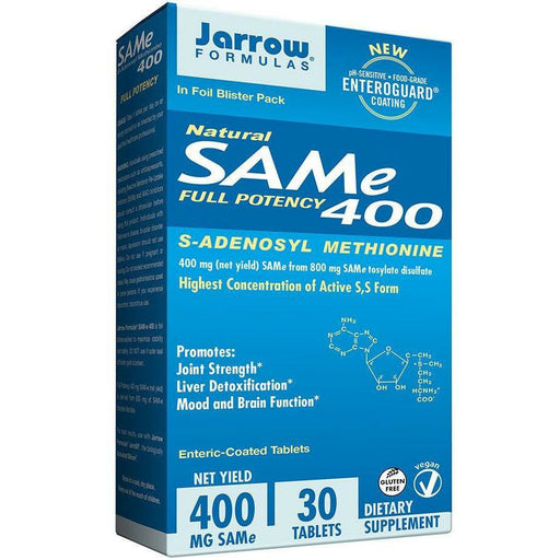 Jarrow Formulas, SAM-e 400 mg 30 tabs