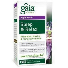 Gaia Herbs, Sleep & Relax 50 caps