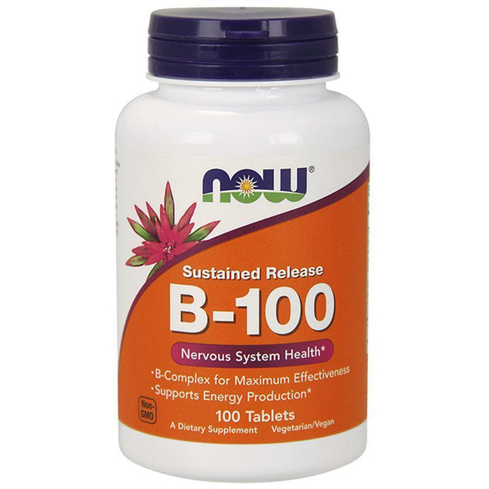 NOW, Vitamin B-100 SR 100 tabs