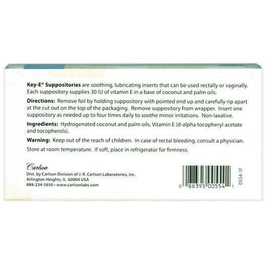 Vitamin E Suppositories 12 supp by Carlson Labs