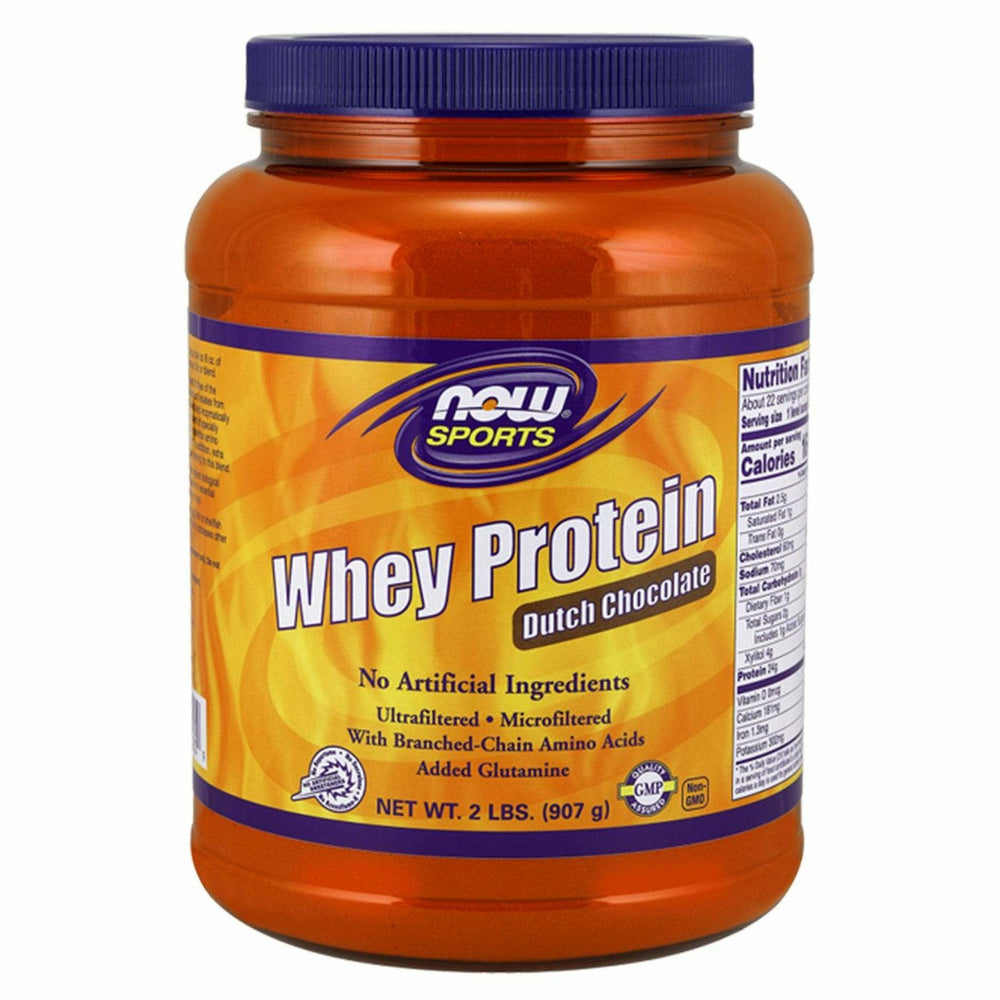 NOW, Whey Protein Dutch Chocolate 2 lb