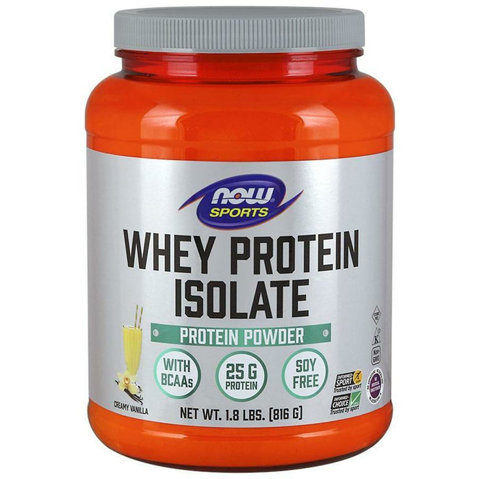 NOW, Whey Protein Isolate (Vanilla) 1.8 lbs