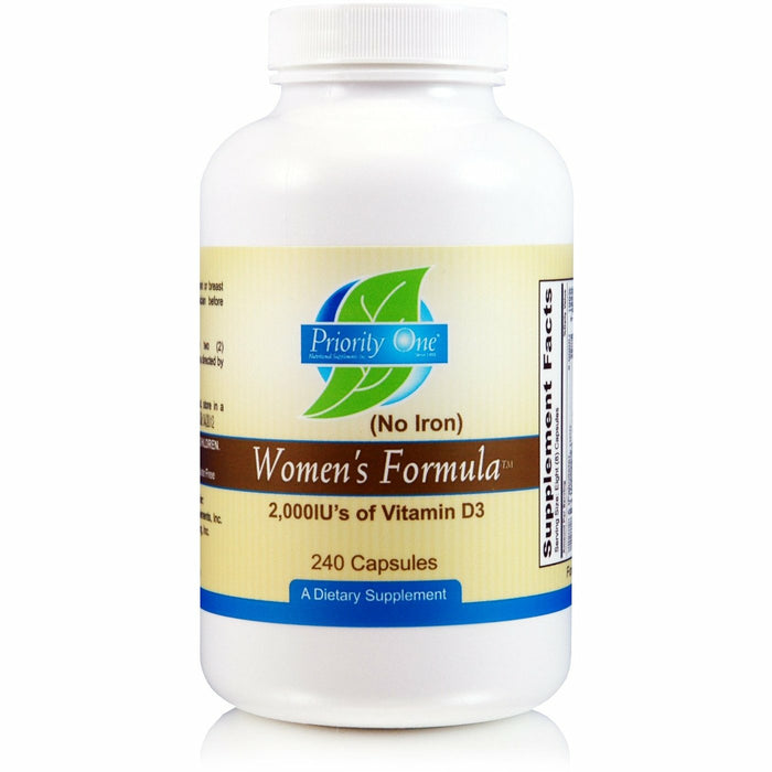 Priority One Vitamins, Women's Formula NO Iron
