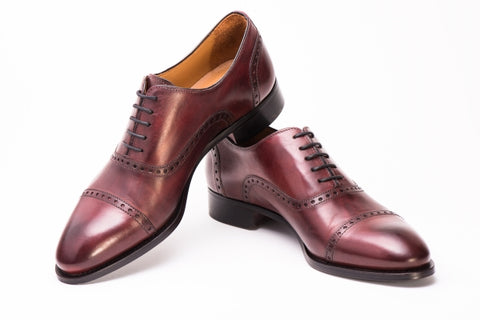 The Brando in Oxblood by Paul Evans Men's Italian Dress Shoes in New York City