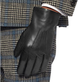 Paul Evans - Dents Black Leather Gloves