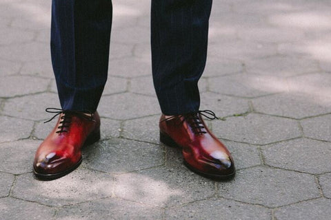 Burgundy And Brown Shoes
