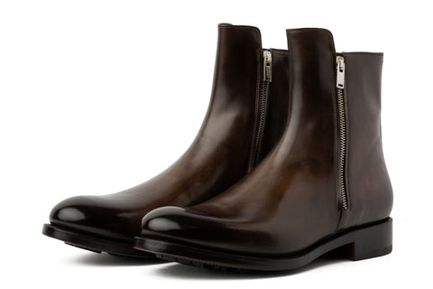 The Harrison Zipped Boot - Chocolate