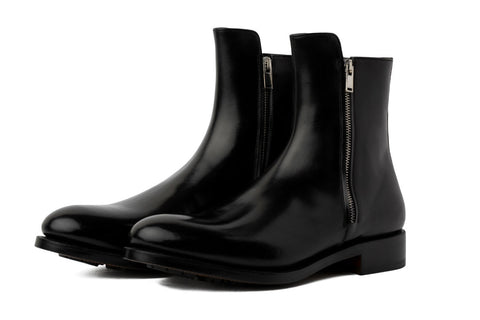 The Harrison Zipped Boot - Nero