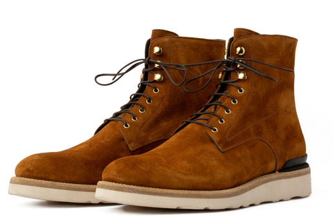 The Polo Suede Lace-Up Boot - Rum