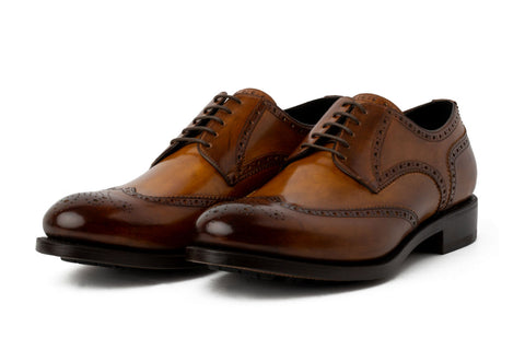 The Churchill Wingtip Derby - Tobacco