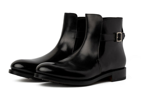 The Drake Buckled Boot - Nero