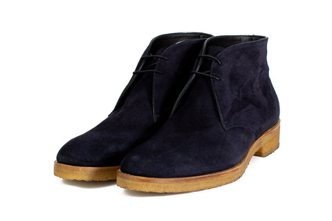The Gosling Unlined Chukka Boot - Blue Suede