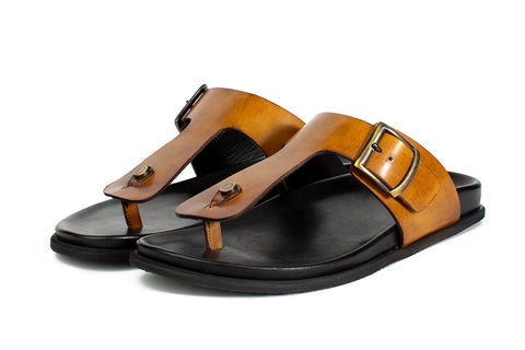 The Crusoe Sandal - Tobacco