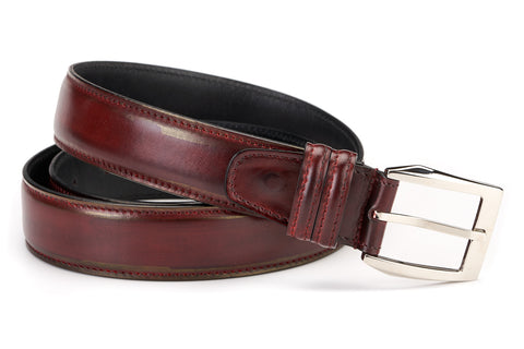 Italian Leather Belt - Oxblood
