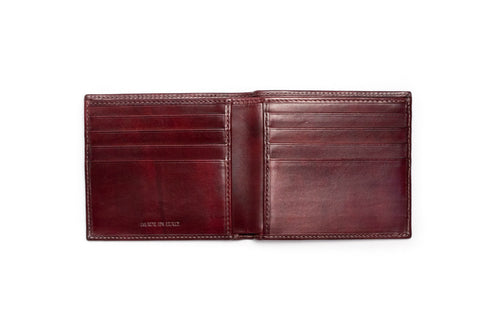 Italian Leather Wallet - Oxblood