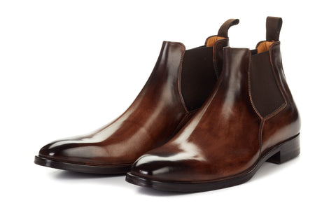 The Heston Double Monk Strap Boot - Cacao