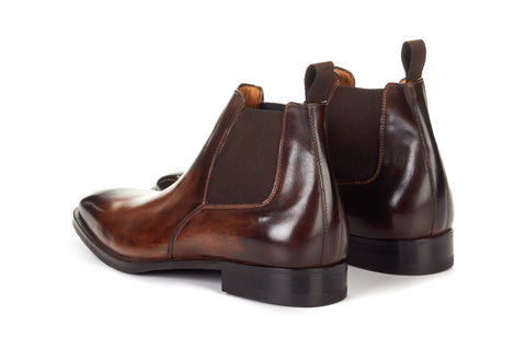 The Wayne Low-Cut Chelsea Boot - Chocolate