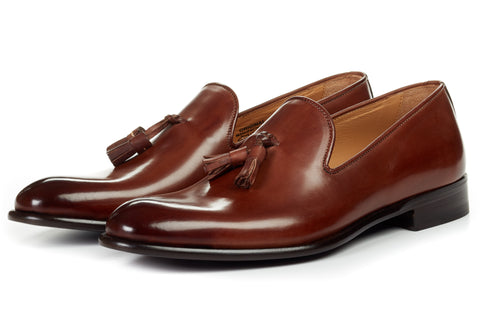 The Chaplin Tassel Loafer - Marrone