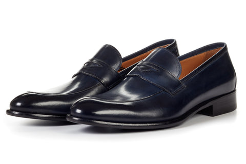 The Stewart Penny Loafer - Midnight Blue
