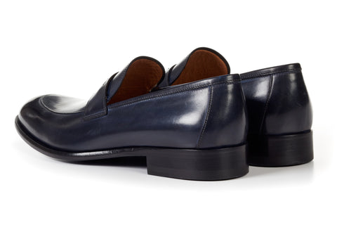 The Stewart Penny Loafer - Dark Blue