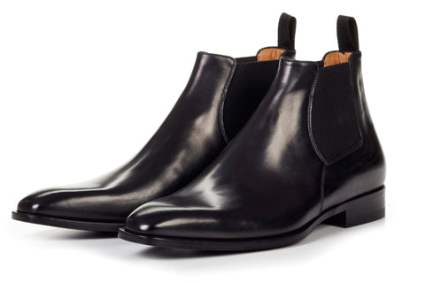 The Wayne Low-Cut Chelsea Boot - Nero