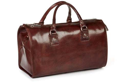 Italian Leather Briefcase - Cognac