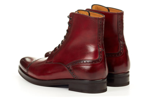 The Presley Lace-Up Boot - Oxblood