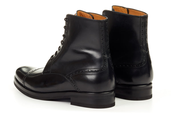 The Presley Lace Up Boot Nero Paul Evans