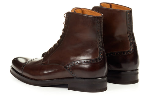 The Presley Lace-Up Boot - Chocolate