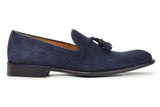 The Chaplin Tassel Loafer - Blue Suede