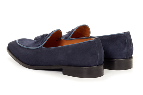 The Van Damme Belgian Loafer - Blue Suede