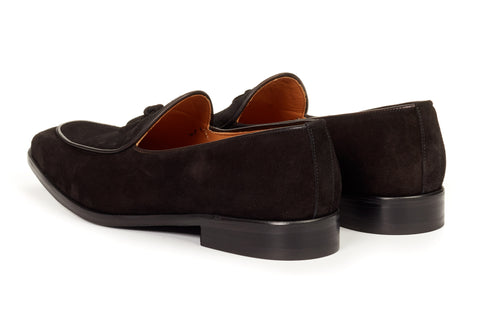 The Van Damme Belgian Loafer - Nero Suede