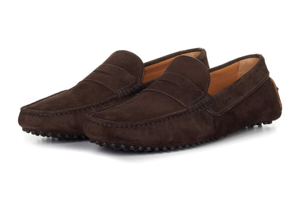 eabec6ffd93a9 The McQueen Driving Loafer - Chocolate Suede - Rubber Sole