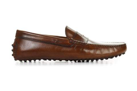 The McQueen Driving Loafer - Marrone - Rubber Sole