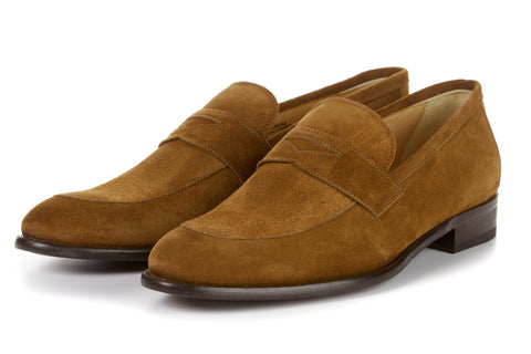 The Stewart Penny Loafer - Cacao Suede