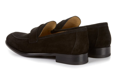 e553ec82d93 The Stewart Penny Loafer - Nero Suede