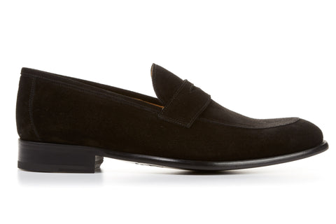 The Stewart Penny Loafer - Nero Suede - Sale