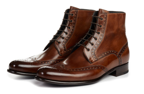 The Reynolds Wingtip Boot - Marrone