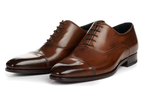 The Cagney III Cap-Toe Oxford - Marrone