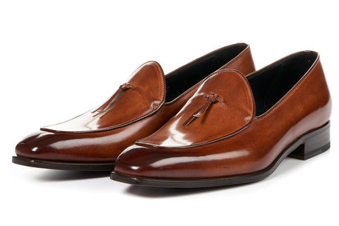 The Van Damme Belgian Loafer - Havana Brown