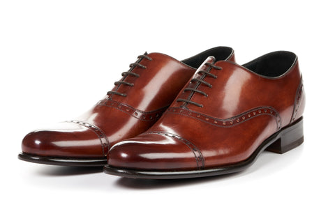 The Brando Semi-Brogue Oxford - Havana Brown