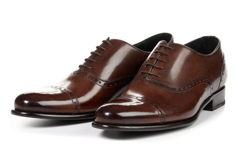The Brando Semi-Brogue Oxford - Marrone