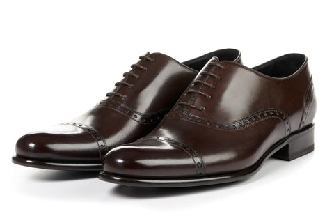 The Brando Semi-Brogue Oxford - Chocolate
