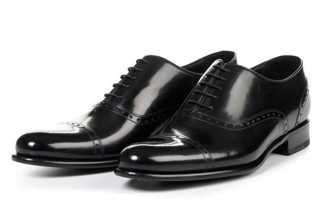 The Brando Semi-Brogue Oxford - Nero